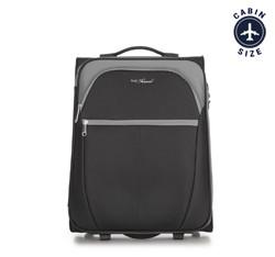 Kabinový cestovní kufr, černo šedá, V25-3S-231-01, Obrázek 1