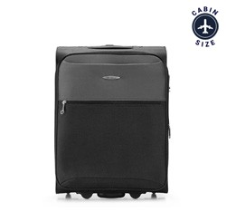 Kabinový cestovní kufr, černo šedá, V25-3S-241-11, Obrázek 1
