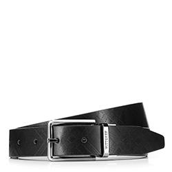 Pánský opasek, černo šedá, 88-8M-304-1-90, Obrázek 1