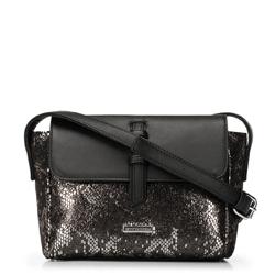 Dámská kabelka, černo-stříbrná, 91-4Y-207-S, Obrázek 1