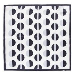 Hedvábný šátek, černo-stříbrná, 93-7D-S01-56, Obrázek 1
