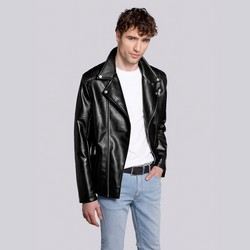 Pánská bunda, černo-stříbrná, 92-9P-153-1S-XL, Obrázek 1