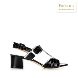 Dámské boty, černo-stříbrná, 92-D-107-1-39, Obrázek 1