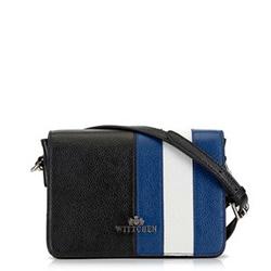 Dámská kabelka, černo-tmavěmodrá, 90-4E-363-1N, Obrázek 1