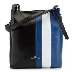 Dámská kabelka, černo-tmavěmodrá, 90-4E-362-1N, Obrázek 1