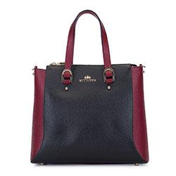 Dámská kabelka, černo-vínová, 93-4E-612-13, Obrázek 1