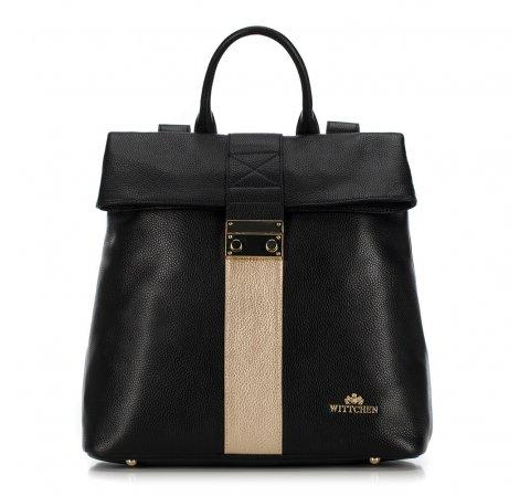 černý a zlatý batoh z kolekce Elegance