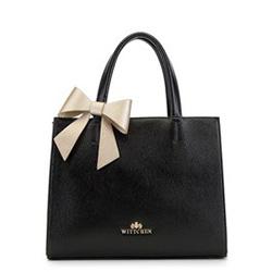 Dámská kabelka, černo-zlatá, 90-4E-371-1, Obrázek 1