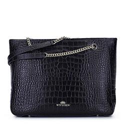 Dámská kabelka, černo-zlatá, 93-4E-602-01, Obrázek 1