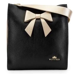Dámská kabelka, černo-zlatá, 90-4E-370-1, Obrázek 1