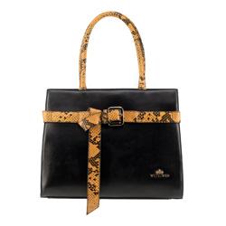 Dámská kabelka, černo-žlutá, 89-4E-363-1Y, Obrázek 1