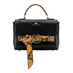 Dámská kabelka, černo-žlutá, 89-4E-364-1Y, Obrázek 1