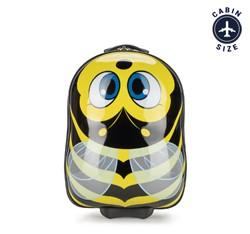 Dětský kufr, černo-žlutá, 56-3K-006-B, Obrázek 1