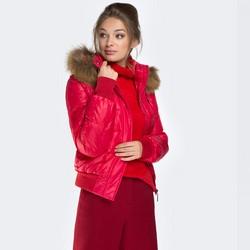 Dámská bunda, červená, 87-9D-404-3-3XL, Obrázek 1