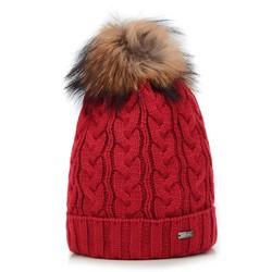 Dámská čepice, červená, 89-HF-201-3, Obrázek 1