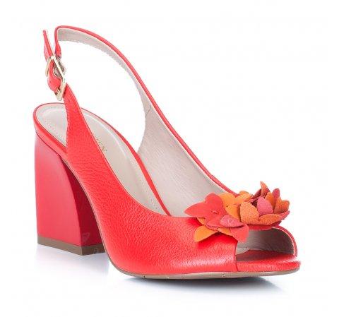 Dámské boty, červená, 88-D-555-3-35, Obrázek 1