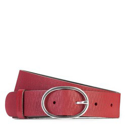 Dámský opasek, červená, 87-8D-306-3-S, Obrázek 1