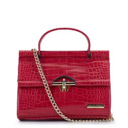 Mini nákupní taška s krokodýlí ražbou, červená, 92-4Y-211-3, Obrázek 1