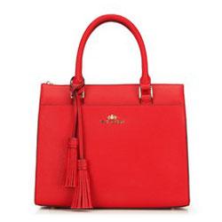 Tote bag, červená, 89-4-504-3, Obrázek 1