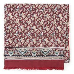 Pánský hedvábný šátek, červeno-béžová, 91-7M-S44-X1, Obrázek 1