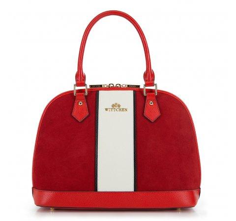 Dámská kabelka, červeno-bílá, 90-4E-601-1, Obrázek 1
