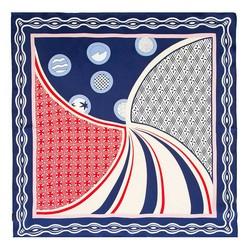Hedvábný šátek, červeno-růžová, 93-7D-S01-12, Obrázek 1