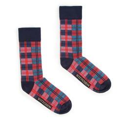 Panské ponožky, červeno-tmavě modrá, 93-SK-016-X1-40/42, Obrázek 1