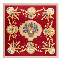 Dámský hedvábný šátek, červeno-žlutá, 91-7D-S39-X2, Obrázek 1