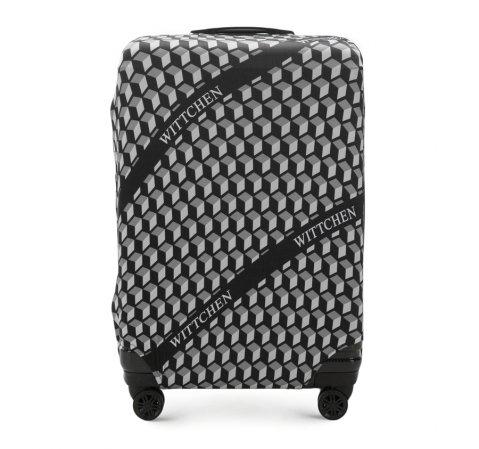 Чехол для большого чемодана, черно-белый, 56-30-033-44, Фотография 1