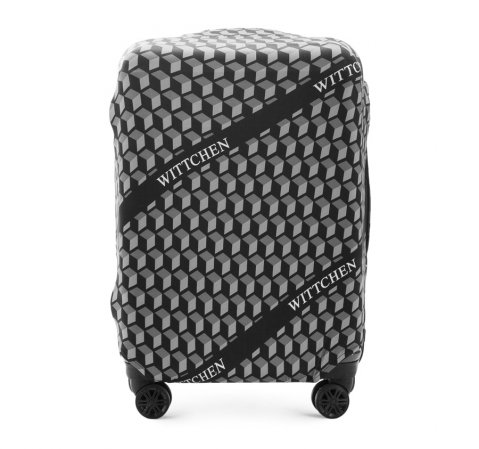 Чехол для среднего чемодана, черно-белый, 56-30-032-10, Фотография 1