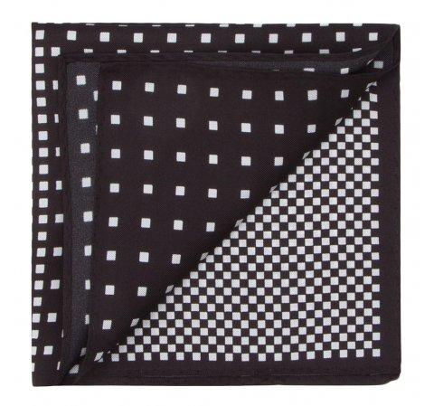 Нагрудный платок, черно-белый, 87-7P-001-X5, Фотография 1