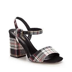 Обувь женская, черно-белый, 86-D-758-X-38, Фотография 1