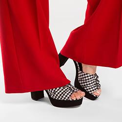 Обувь женская, черно-белый, 86-D-759-1-37, Фотография 1