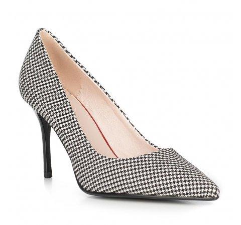 Обувь женская, черно-белый, 90-D-952-1-38, Фотография 1