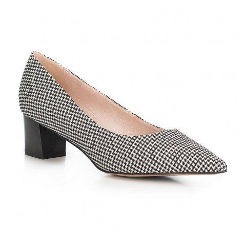 Обувь женская, черно-белый, 90-D-953-1-37, Фотография 1