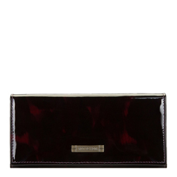 Женский кожаный кошелек черепаховой расцветки, черно-бордовый, 26-1-418-2, Фотография 1