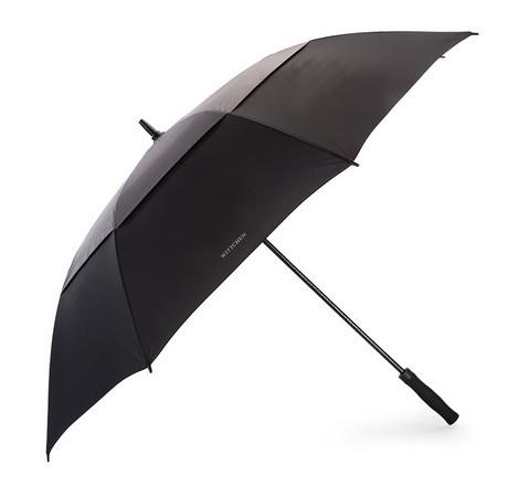 Полуавтоматический длинный зонт, черно - графитовый, PA-7-150-1X, Фотография 1