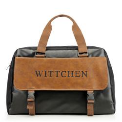Дорожная сумка, черно-коричневый, 86-3P-203-15, Фотография 1