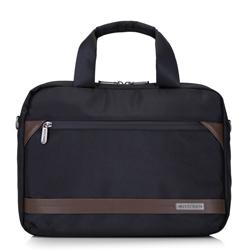 """Маленькая мужская сумка для ноутбука 13"""" с потайной молнией, черно-коричневый, 92-3P-107-15, Фотография 1"""
