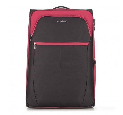 Большой чемодан, черно-красный, V25-3S-233-01, Фотография 1