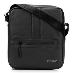 Мужская средняя сумка-мессенджер, черно-серебряный, 92-4U-900-11, Фотография 1