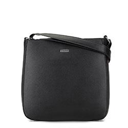 Женская  трапециевидная сумка через плечо, черно-серебряный, 29-4Y-005-11, Фотография 1