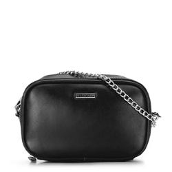 Женская сумка через плечо 2 в 1, черно-серебряный, 92-4Y-304-10, Фотография 1