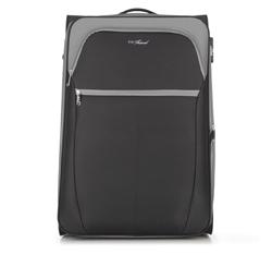 Большой чемодан, черно-серый, V25-3S-233-01, Фотография 1