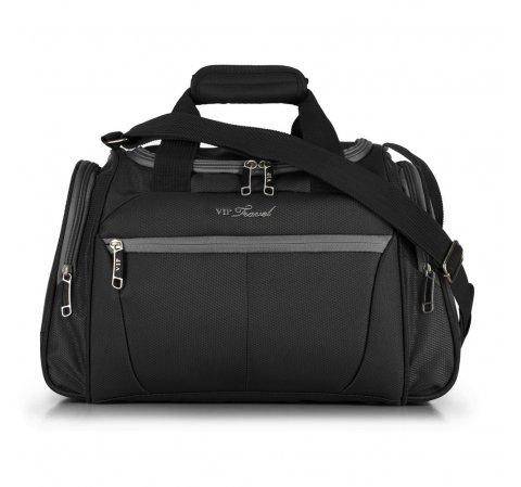 Дорожная сумка, черно-серый, V25-3S-236-95, Фотография 1