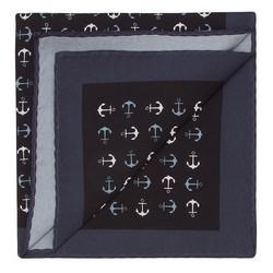 Нагрудный платок, черно-серый, 87-7P-002-2X, Фотография 1