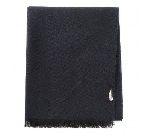 Мужской тонкий шарф в елочку, черно-синий, 91-7M-X07-X1, Фотография 1
