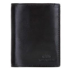 Маленький кожаный кошелек мужской, черный, 21-1-023-10, Фотография 1