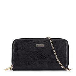 Миниатюрная сумка через плечо, черно-золотой, 92-1Y-583-01, Фотография 1