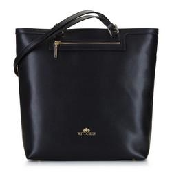 Кожаная сумка-шоппер, черно-золотой, 92-4E-600-10, Фотография 1